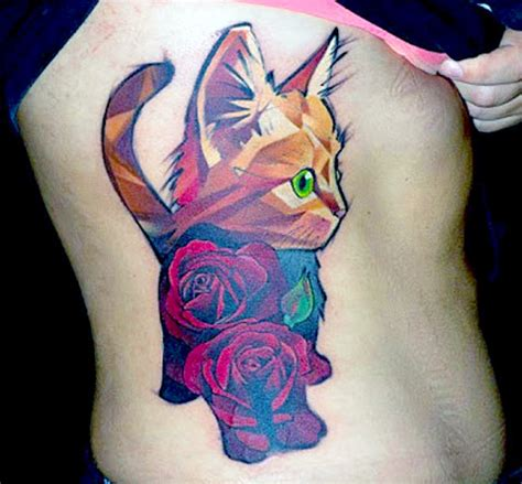 65 amazing cat tattoo designs band of cats