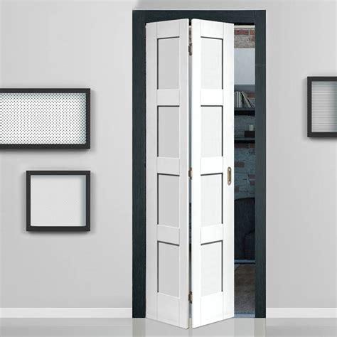 indoor closet doors shaker white primed 4 panel bifold door bi fold
