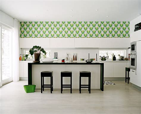 wallpaper design for kitchen do you wallpaper in your kitchen popsugar home