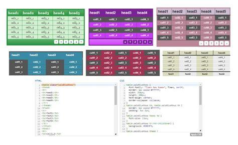 table html generator html table styler css generator