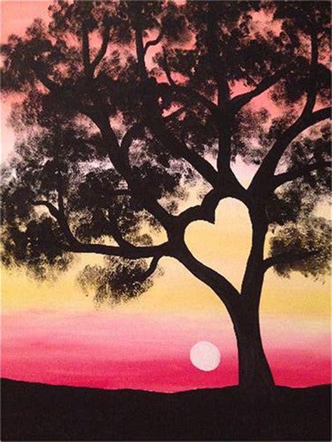 paint nite tree paint nite sunset tree