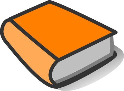 pictures of books clipart orange book reading clip at clker vector clip