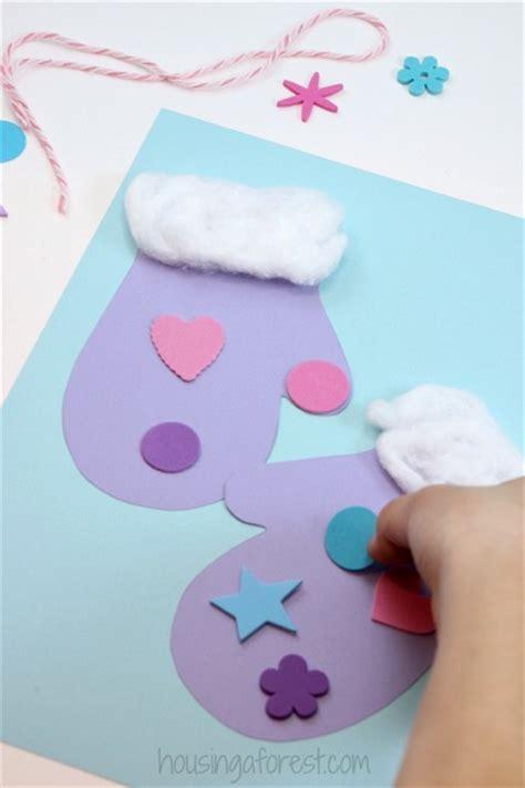 mitten crafts for winter mitten craft for preschoolers housing a forest