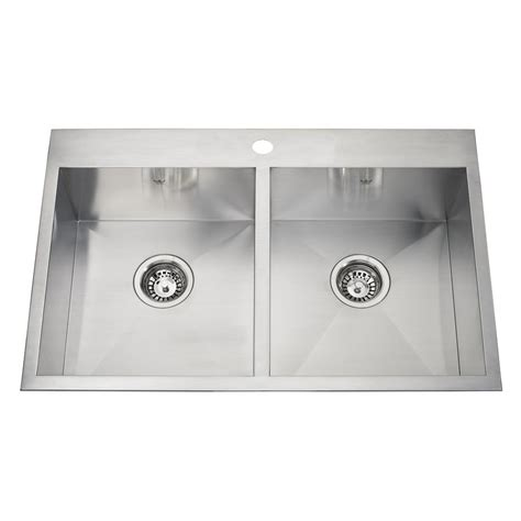 undermount kitchen sinks at lowes kindred 20 drop in or undermount stainless steel
