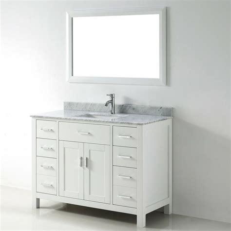 48 inch white single sink vanity set