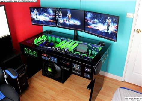 computer desk with built in computer watercooled pc desk mod with built in car audio system