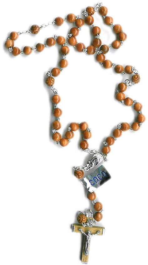 luminous rosary genuine cocoa bead rosary from italy with free st