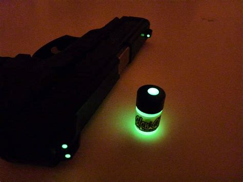 glow in the paint sights check this out glow in the gun sights paint
