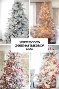 pictures of tree decorating ideas 26 best flocked tree d 233 cor ideas digsdigs