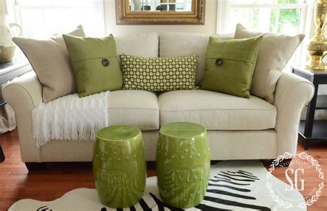 throw pillows sofa sofa pillows green pillows with white throw