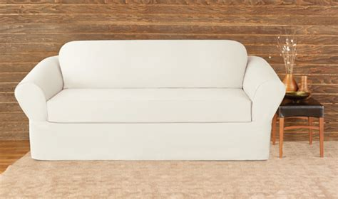 white cotton slipcovers for sofas surefit furniture slipcovers