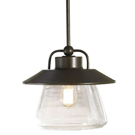 lowes lighting fixtures home shop allen roth bristow 12 in w mission bronze pendant