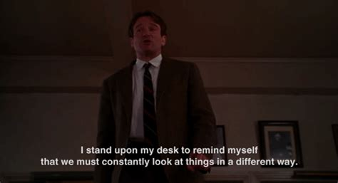 dead poets society standing on desks yeah quotes