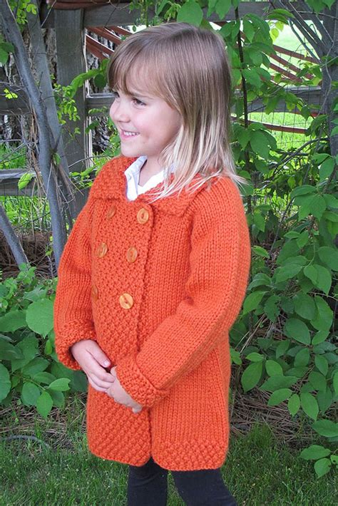 easy knitting pattern for coat 1304 breasted coat for children knitting