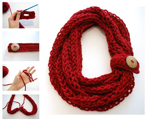 things to make with finger knitting finger knit infinity scarf finger knitting crochet