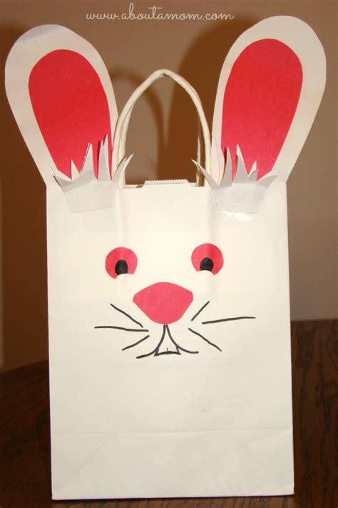 paper bag bunny craft easter bunny bag template memes