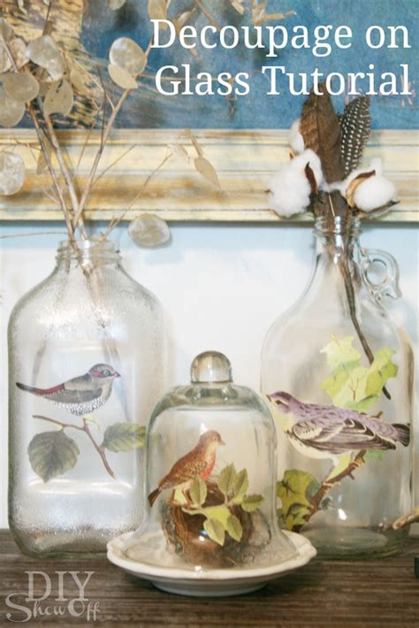 decoupage glass decoupage how to on glass bottles images
