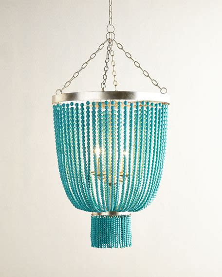 turquoise beaded chandelier turquoise bead 4 light chandelier