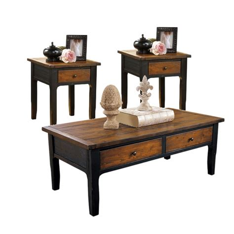 coffee table set unifying the room style with coffee tables and end table