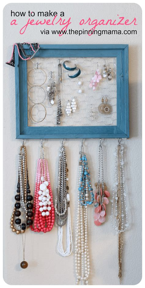 how to make a jewelry holder diy how to make a jewelry organizer the pinning