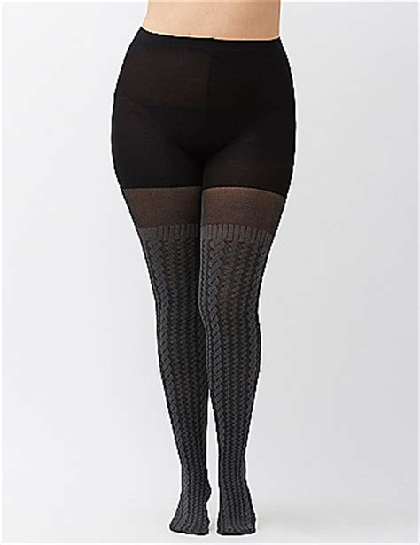 plus size cable knit tights cable knit sweater tights by spanx 174 bryant