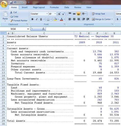 aaii s ratio analysis spreadsheet