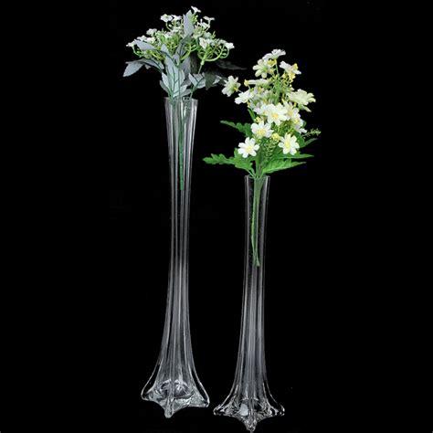 centerpiece vases in bulk bulk lot 12 x clear glass eiffel tower vases wedding