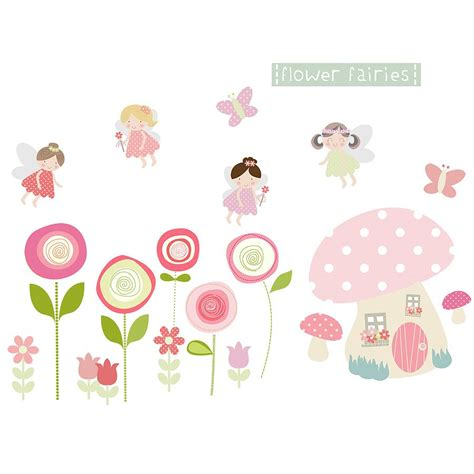 flower stickers for walls flower fairies fabric wall stickers by littleprints