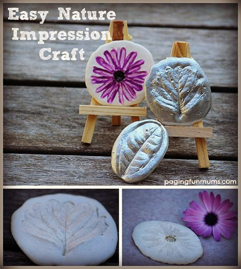 easy nature crafts for nature impression craft