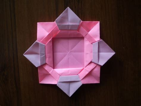 origami frames cool creativity diy origami flower picture frame