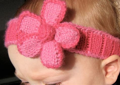 easy knit baby headband knitted headband with flower patterns a knitting