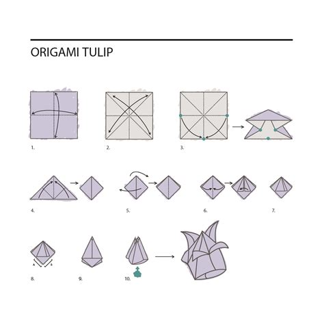origami tulip step by step diy origami flowers paperlust