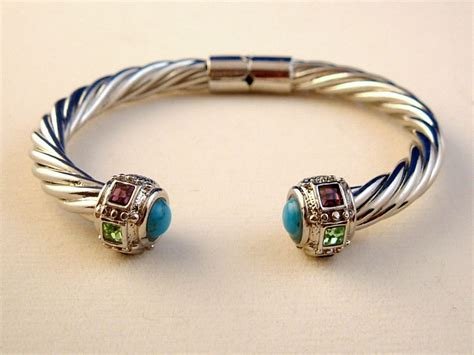metal cuffs for jewelry designer s touch turquoise twisted rope cable cuff