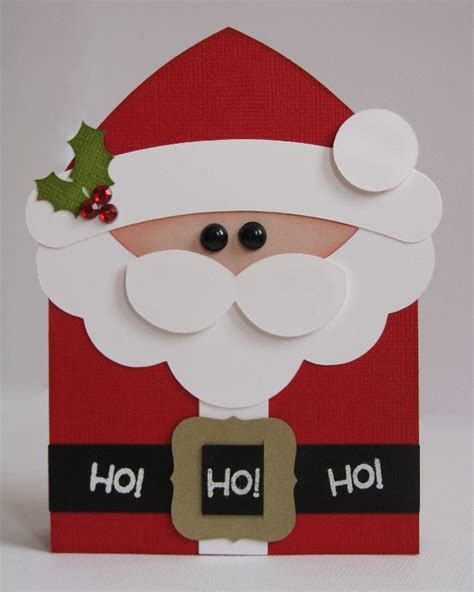 santa cards to make snippets by mendi a lori whitlock tutorial shaped