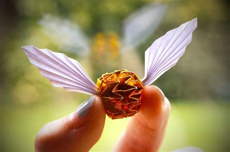 origami snitch golden snitch origami harry potter harry potter