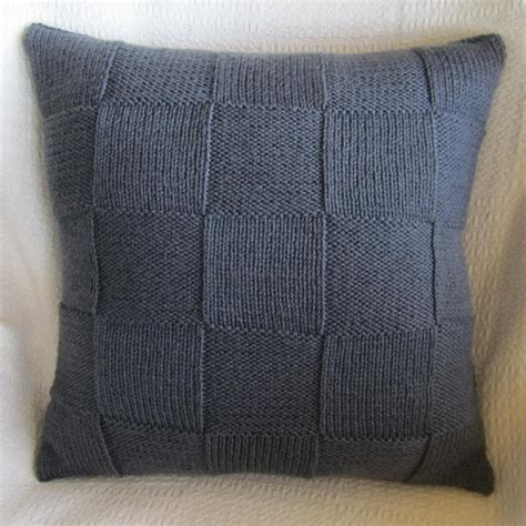 knitted pillow covers simple squares 20x20 pillow cover by ladyshipdesigns craftsy