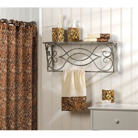 leopard bathroom accessories leopard print bathroom accessories set image mag