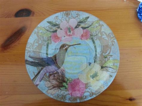 decoupage glass plate decoupage glass plate decoupage