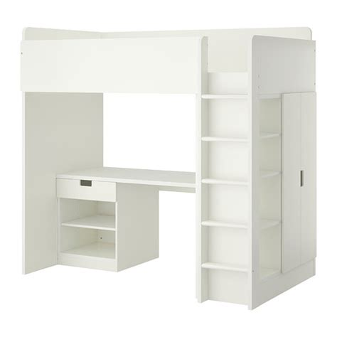 ikea white bunk beds stuva loft bed with 1 drawer 2 doors white ikea