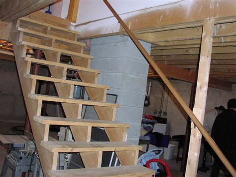 how to build basement stairs stair half wall railing studio design gallery best