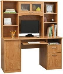 landon desk with hutch cherry realspace landon desk with hutch choice of cherry or oak