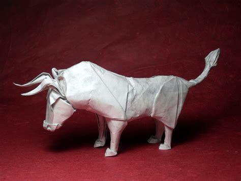 origami bull folding