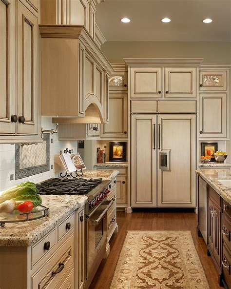 antique paint colors for kitchen cabinets antique ivory kitchen cabinets with black brown granite
