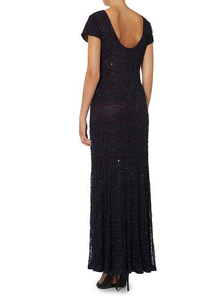 low back beaded dress shubette low back beaded dress with contrast lining navy