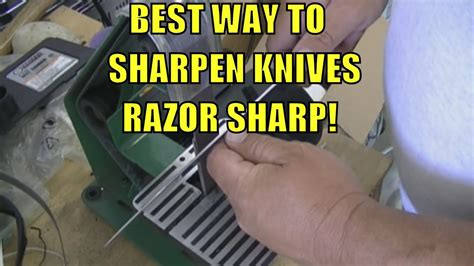 what is the best way to sharpen kitchen knives best way to sharpen any knife razor sharp