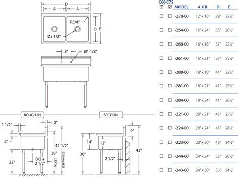 typical kitchen sink dimensions standard size kitchen sink