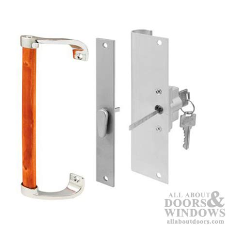 keyed patio door handle keyed sliding patio door handle set 6 7 8 h c aluminum wood