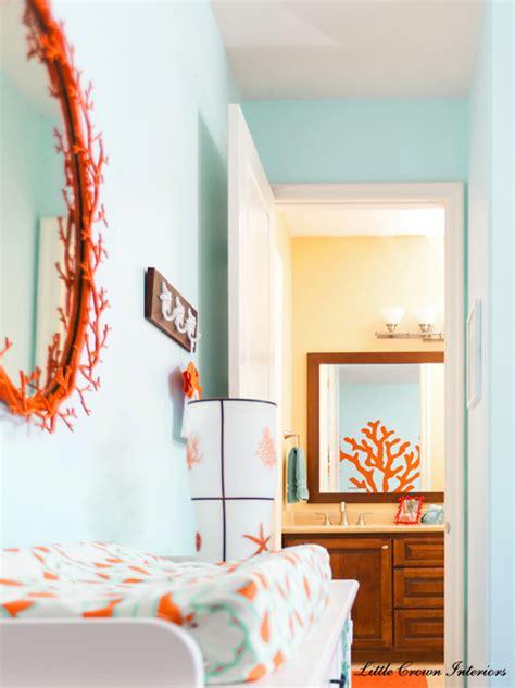Bathroom Glass Wall by Beach Theme Boys Nursery Interior Design Project Reveal