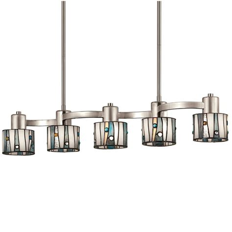 portfolio pendant lighting shop portfolio 32 in w 5 light brushed nickel kitchen