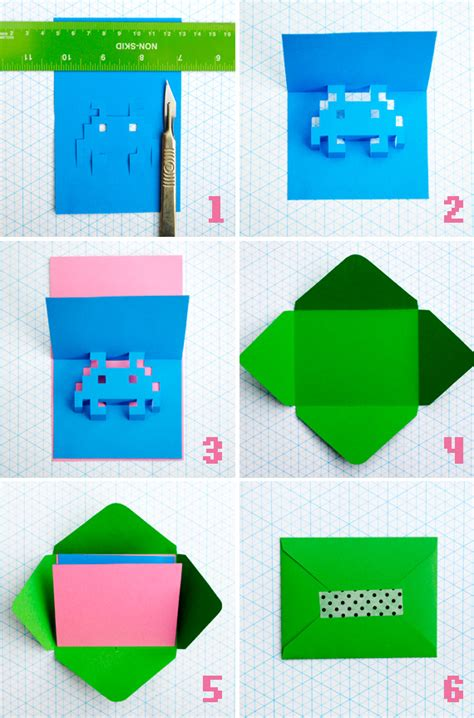 how to make 3d pop up cards 8 bit popup cards minieco